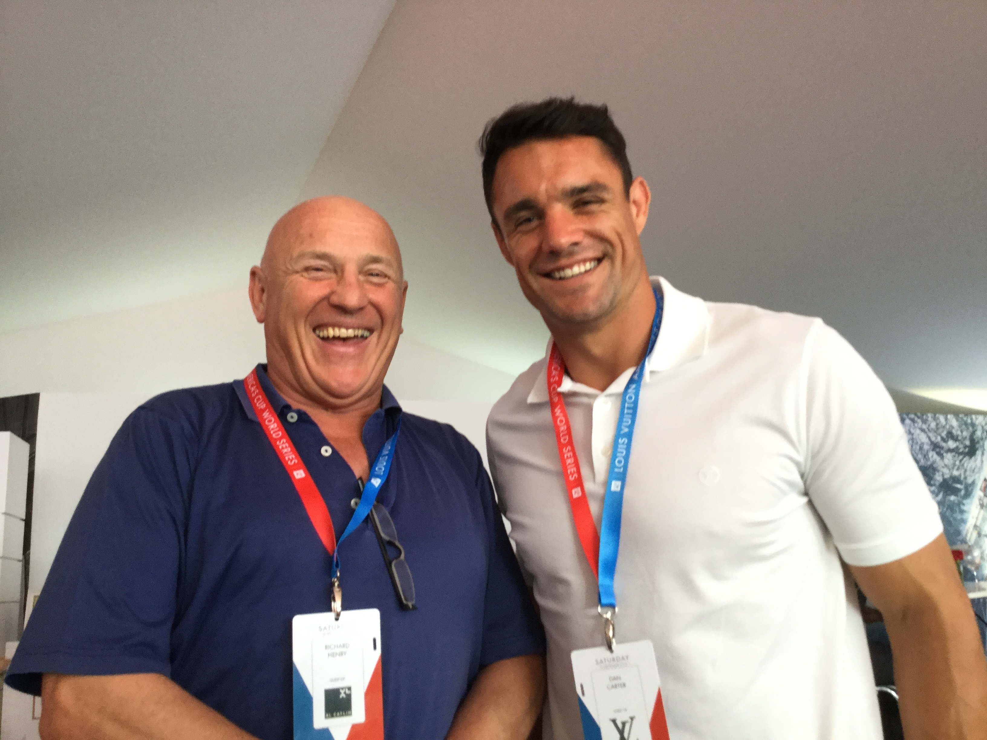 Richard Henry with Dan Carter